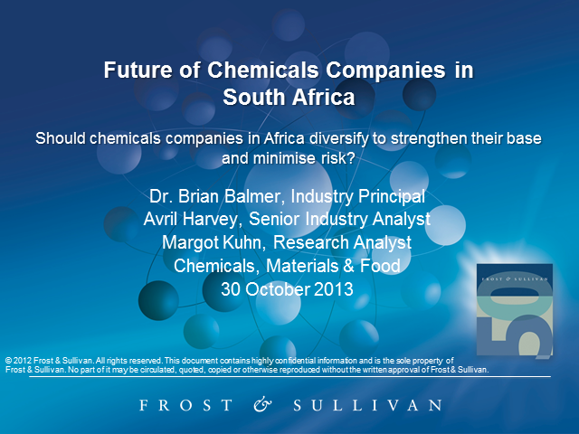 The Future of Chemical Companies in South Africa