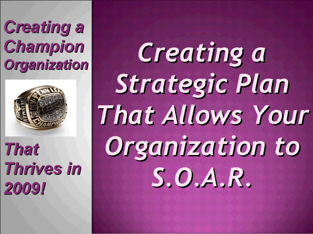 A Strategic Plan that Allows Your Organization to S.O.A.R.