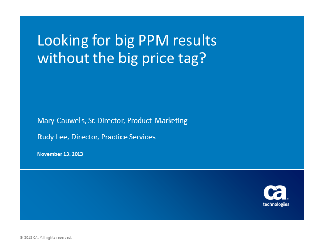 Looking for big PPM results without the big price tag?