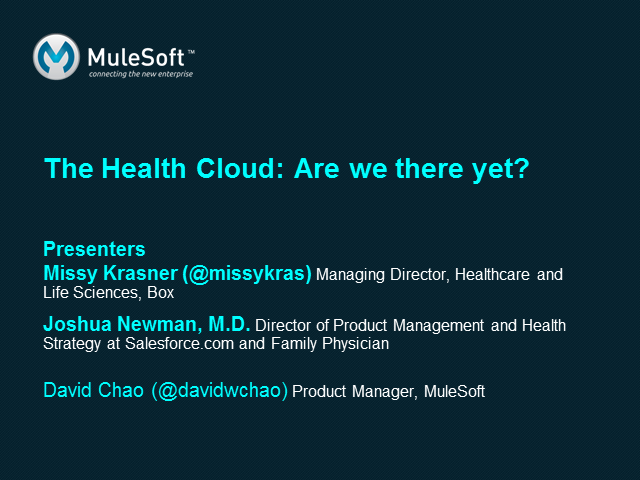 """The Health Cloud:"" Are we there yet?"