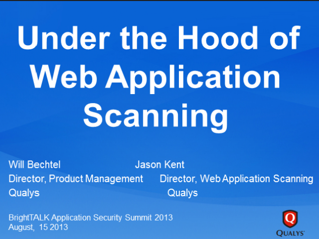 Under the Hood of Web Application Scanning [LIVE HACK]
