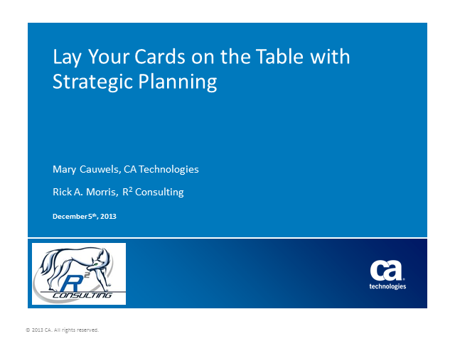 It's Time To Lay Your Cards on the Table with Strategic Planning