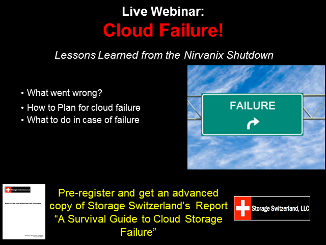 Cloud Failure - Lessons Learned From The Nirvanix Shutdown