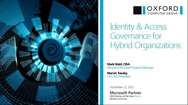 Identity & Access Governance for Hybrid Identity