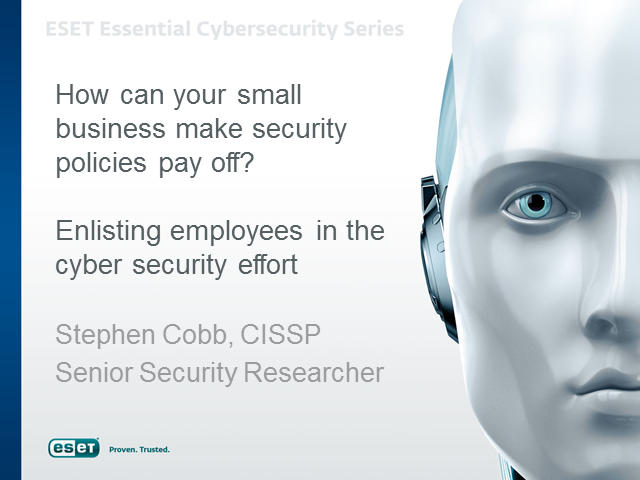 How can your small business make security policies pay off?