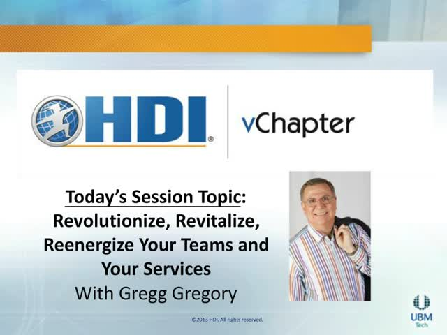 Revolutionize, Revitalize, and Reenergize Your Teams and Your Services