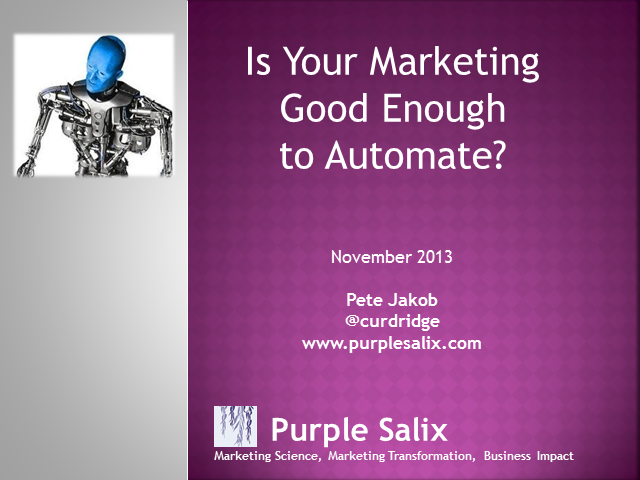 Is Your Marketing Good Enough to Automate?