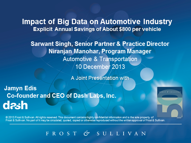 Impact of Big Data on Automotive Industry