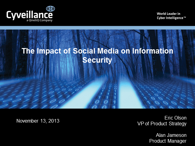 The Impact of Social Media on Information Security