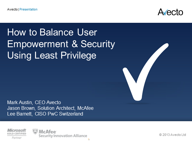 How to Balance User Empowerment & Security Using Least Privilege