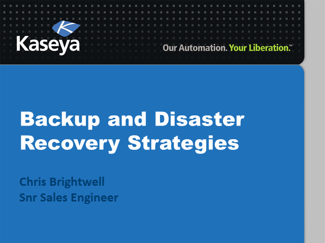 Backup and Disaster Recovery Strategies