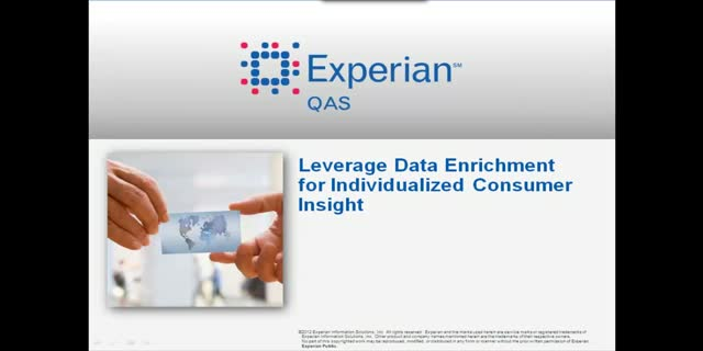 Leverage data enrichment for individualized consumer insight