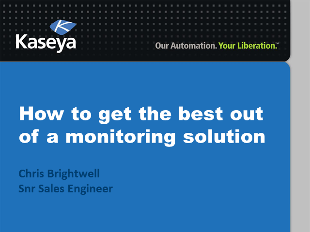 How to get the best out of a Cloud Monitoring Solution