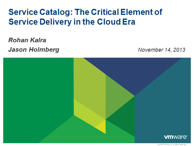 Service Catalog: The Critical Element of Service Delivery in the Cloud Era