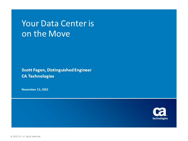 Your Data Center is on the Move