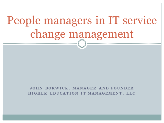 People Managers in IT Service Change Management