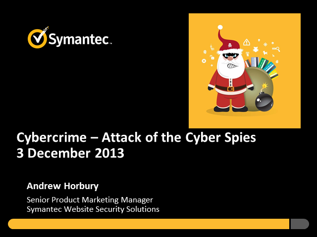 Cybercrime – Attack of the Cyber Spies