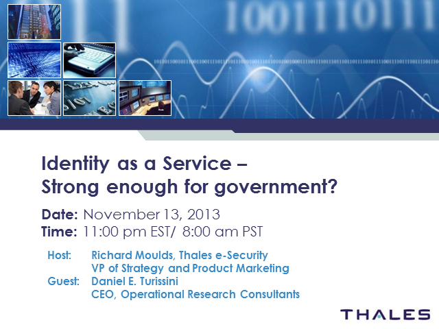 Identity as a Service – Strong Enough for Government?