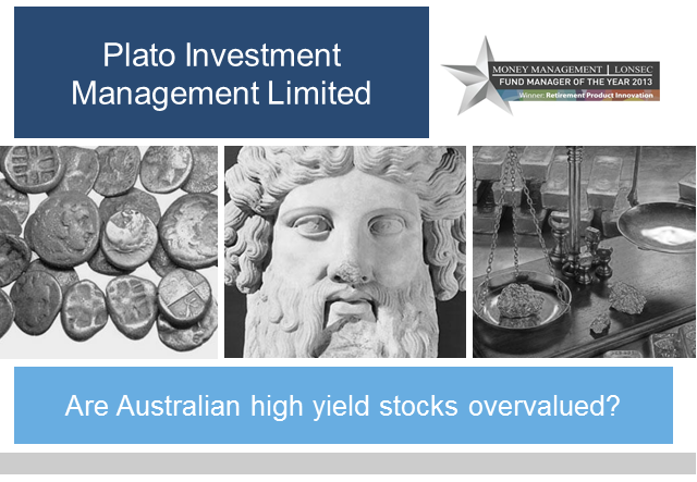 Are Australian high yield stocks overvalued?