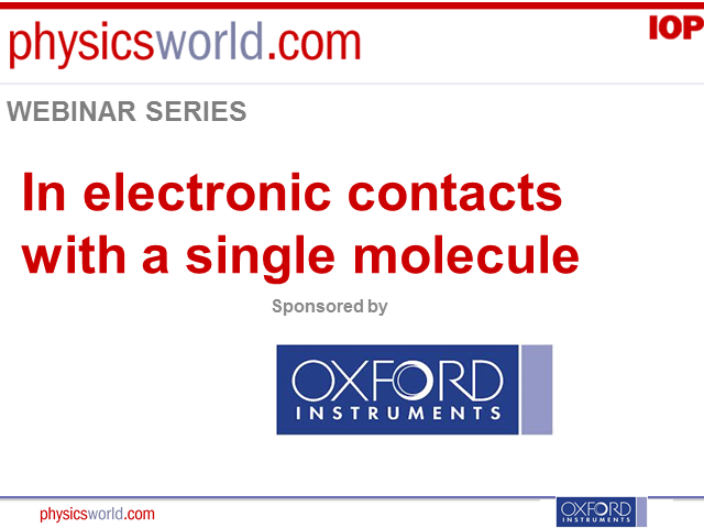 Electronic contacts with a single molecule
