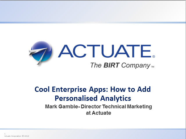 Cool Enterprise Apps: How to Add Personalized Analytics