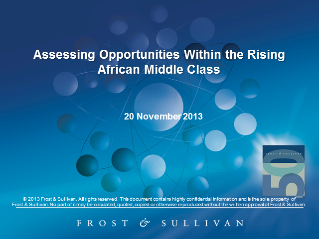 Assessing Opportunities within the Rising African Middle Class