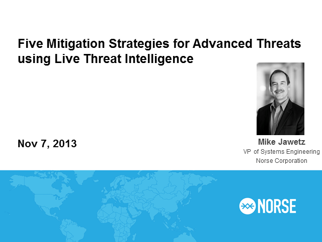 5 Mitigation Strategies for Advanced Threats Using Live Threat Intelligence