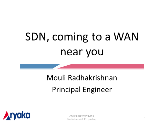 SDN Coming to a WAN Near You. Are you Ready?
