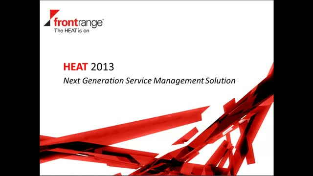 HEAT 2013 - Next Generation Service Management Solution