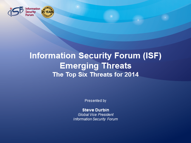 Emerging Threats – The Top Six Security Threats for 2014