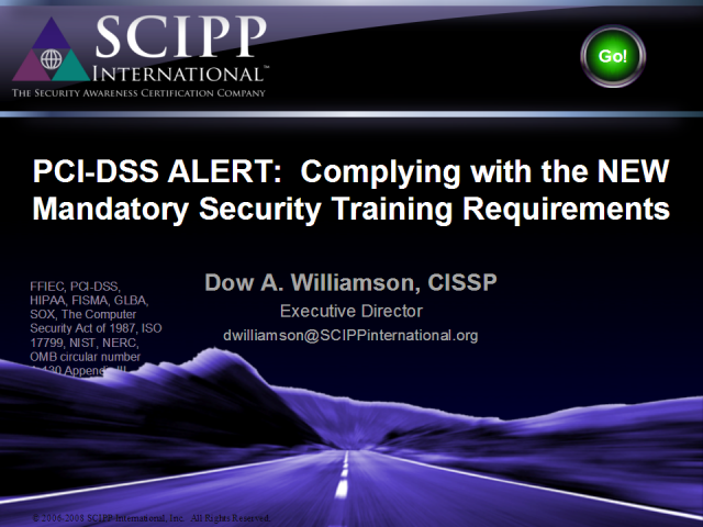 PCI-DSS ALERT: Complying with the NEW Mandatory Requirement