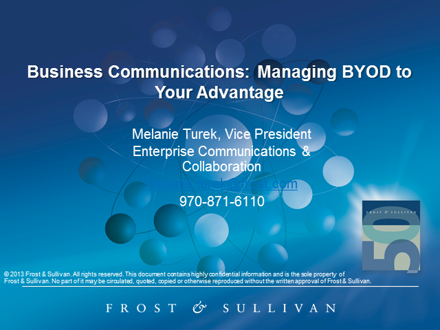 Business Communications: Managing BYOD to Your Advantage