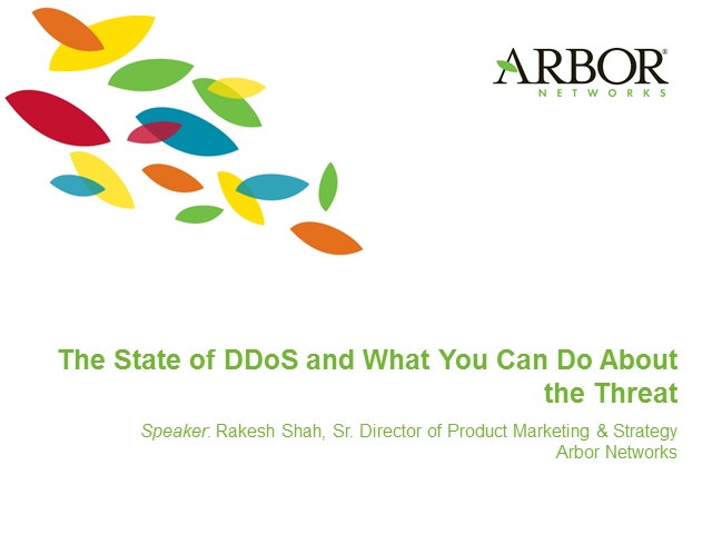 The State of DDoS:  What Can You Do About The Threat?