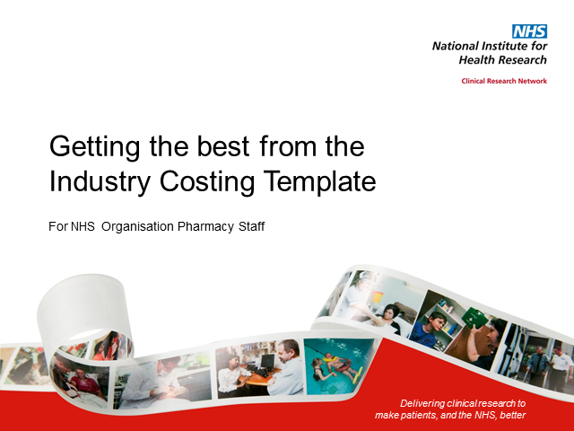 Getting the best out of the Industry Costing Template for Trust Pharmacy staff