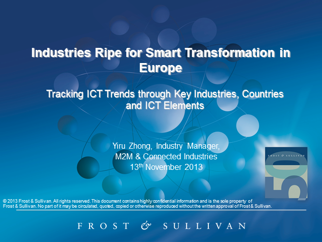 Industries Ripe for Smart Transformation in Europe