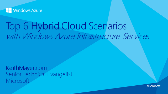 Top 6 Cloud Scenarios - Jumpstart Your Cloud IT Strategy with Microsoft Azure