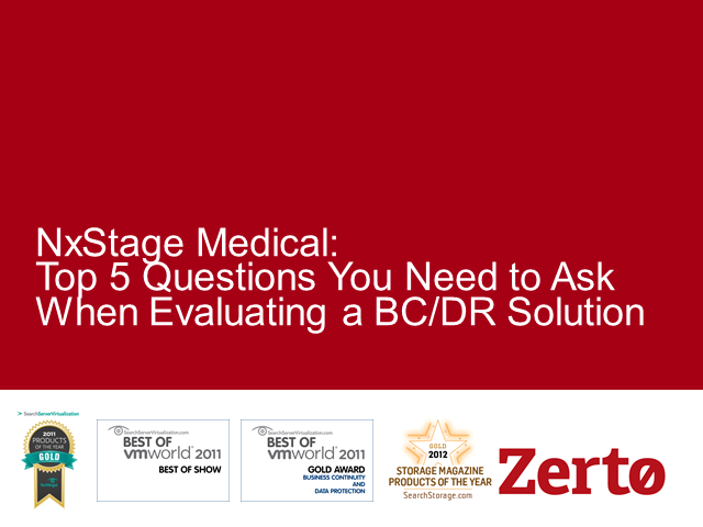Top 5 Questions You Need to Ask When Evaluating a BC/DR Solution