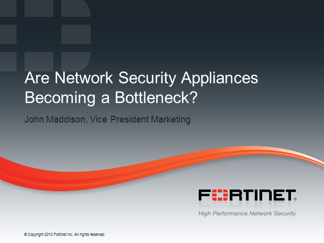 Data Center Security: Are Network Security Appliances Becoming a Bottleneck?