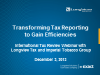 Transforming Tax Reporting to Gain Efficiencies