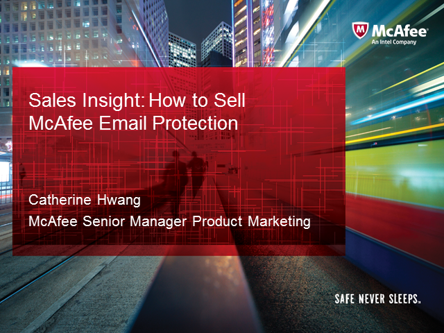 Sales Essentials: How to Sell McAfee Email Protection