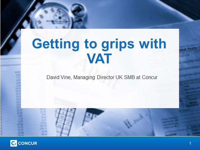 Getting to grips with VAT