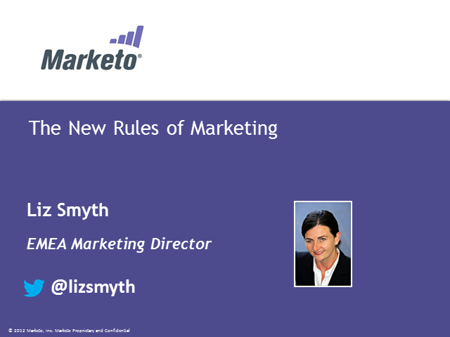 The new rules of marketing - engaging today's digital buyer