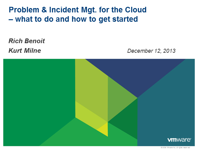 Problem and Incident Management for the Cloud - What to Do & How to Get Started