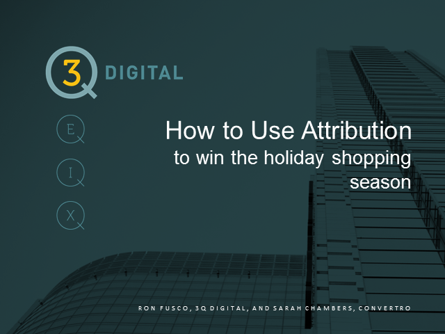 Use attribution insights to fine-tune holiday marketing strategy
