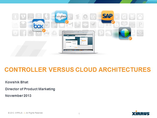 The Wi-Fi Architectures Main Event: Controller vs. Cloud