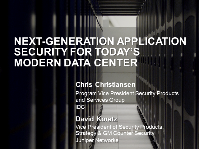 Next-Generation Application Security for Today's Modern Data Center
