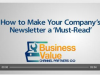 How to Make Your Company's Newsletter a 'Must-Read'