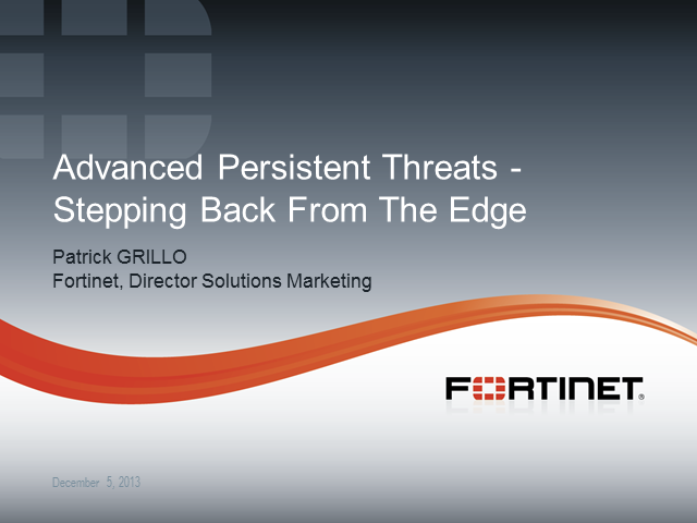 Advanced Persistent Threats – Stepping Back From The Edge