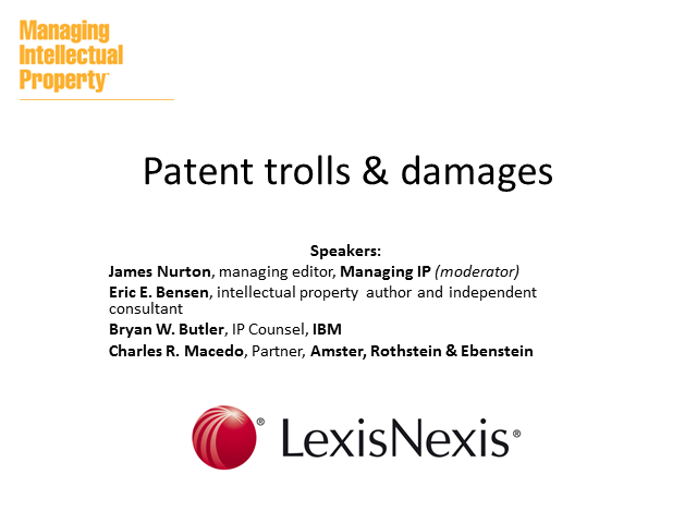 Patent trolls & damages