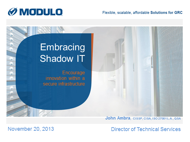 Embracing Shadow IT: Encouraging innovation within a secure infrastructure